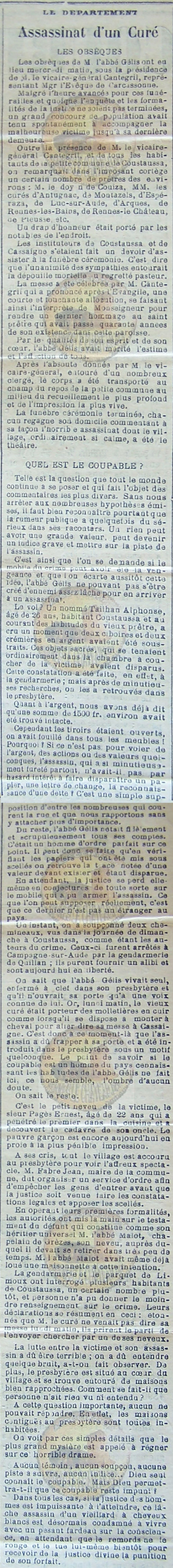 05-11-1897 Assassinat d'un curé