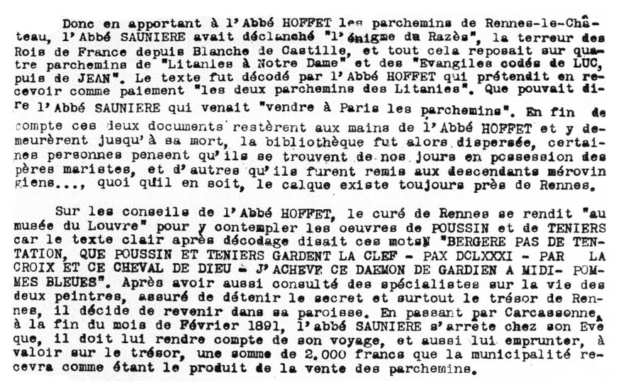 Dossiers Secrets, Emile Hoffet