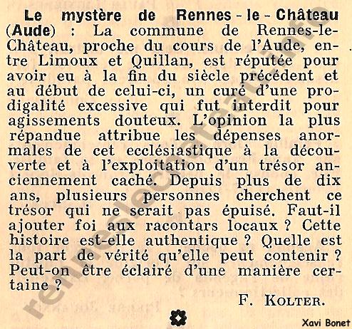 1967 L'Intermédiaire des chercheurs et curieux 942