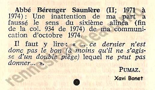 Abbé Bérenger Saunière 1975-ICCn287col98