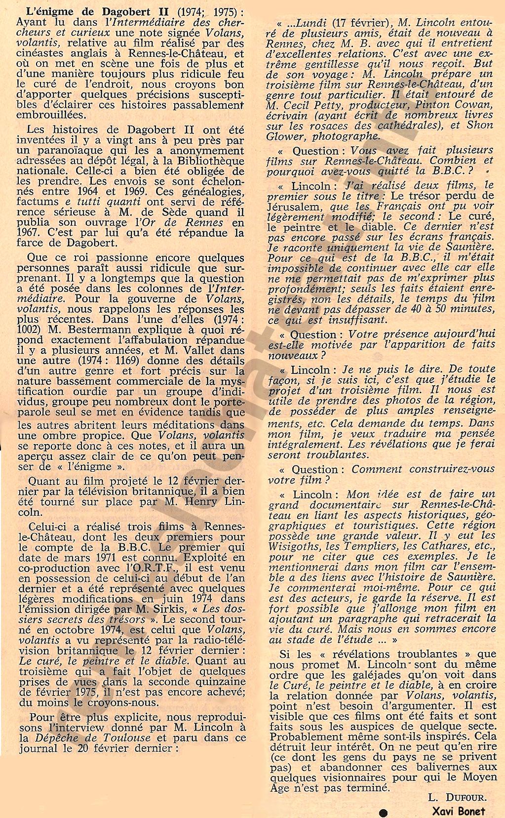 1975-ICCn298col64-65-66, L'énigme de Dagobert II