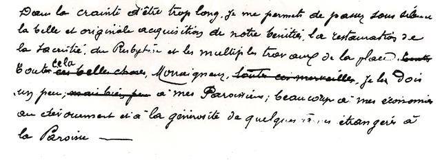 Discours de l'abbé Saunière 1897