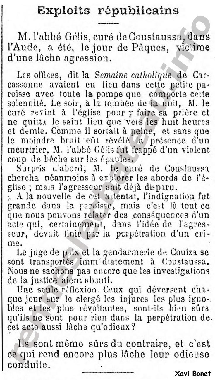 12-05-1881 Abbé Gélis