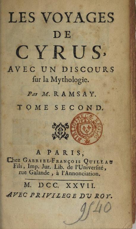 Andrew Michael Ramsay 1727
